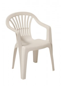 White Resin Chair Stacking