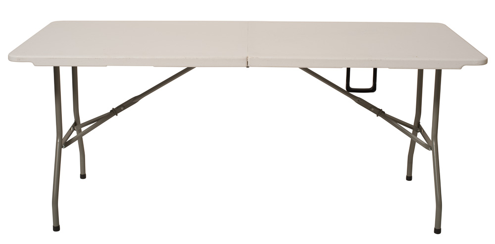 Plastic heavy duty centre folding table 6 39 x 2 39 6 for Folding table 6 x 4